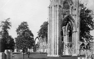 York, St Marys Abbey c.1873