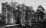 York, St Marys Abbey South West c.1870