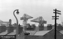 Barrow-In-Furness, Cranes Over The Rooftops 1963