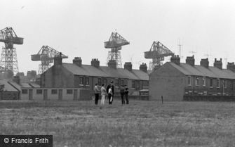 Barrow-in-Furness, Policeman checking the Cricket Players 1963