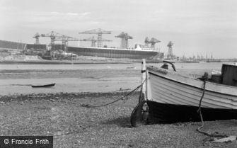 Barrow-in-Furness, view across Walney Channel 1963