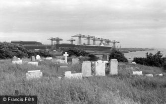 Barrow-in-Furness, view from the Cemetery 1963