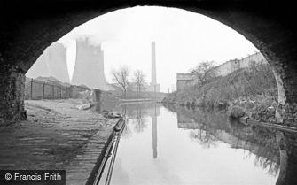 Birmingham, Canal Junction and Nechells Power Station, from Lichfield Road Bridge 1964