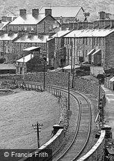 Blaenau Ffestiniog, Railway and Cottages 1965