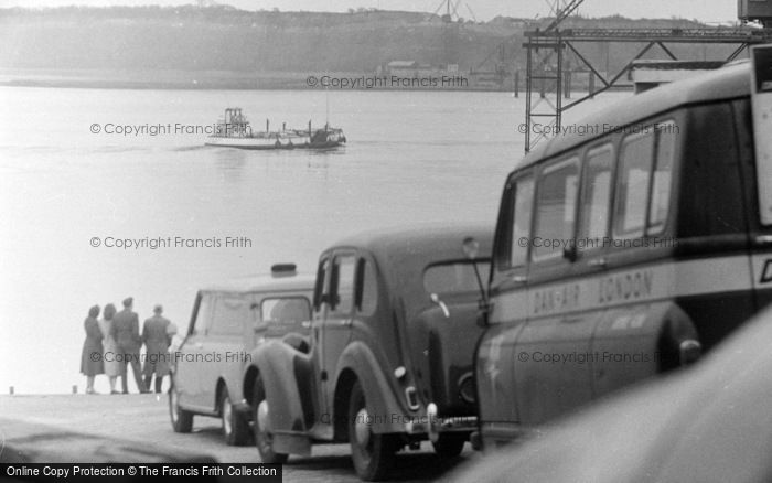 Photo of Cardiff, The Ferry Queue 1962