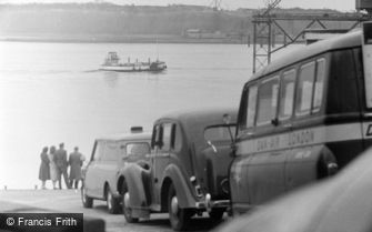 Cardiff, the Ferry Queue 1962