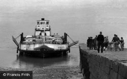 Chepstow, Jetty, Severn Queen c.1962