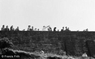 Edinburgh, the Castle Wall c1960