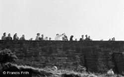 Edinburgh, The Castle Wall c.1960
