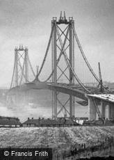 Forth Bridge, Road Bridge under Construction c1963