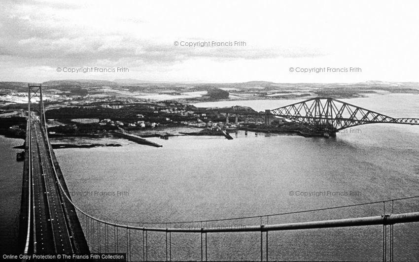Forth Bridge, the Two Bridges c1980