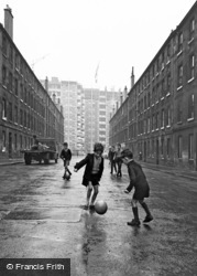 Glasgow, Boys Playing Football, The New Gorbals 1964