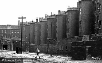 Glasgow, the Old Gorbals, Abbotsford Place Stair Towers 1961