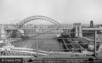 Newcastle upon Tyne, from the Railway Bridge 1966