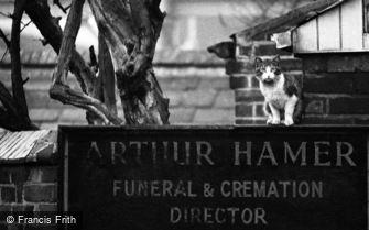 Oldbury, Arthur Hamer Funeral & Cremation Sign 1964