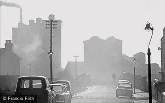 Oldbury, Misty Street Scene 1964