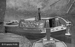 Narrow Boat On The Canal 1964, Oldbury