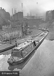Narrowboat On Canal By Bip Factory c.1960, Oldbury