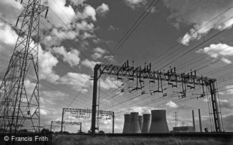Rugeley, Power Station and Power Lines c1980