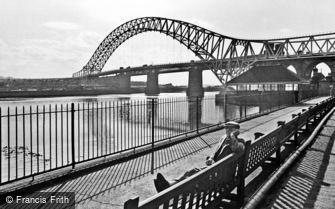 Widnes, the New Widnes-Runcorn Bridge 1964