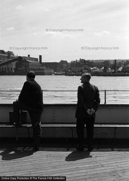Photo of Woolwich, Men On The Ferry 1961