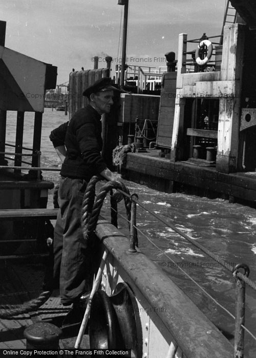 Photo of Woolwich, The Ferry Coming Into The Quay 1961