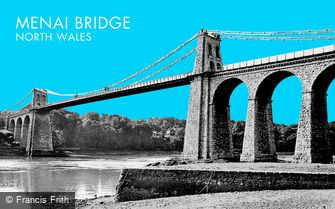 Menai Bridge, the Suspension Bridge c1955