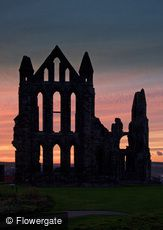 Whitby, Abbey at Sunset c2010