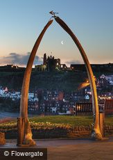 Whitby, Abbey Framed by Whalebones c2010