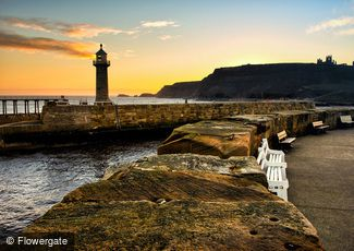 Whitby, East Meets West Pier c2010