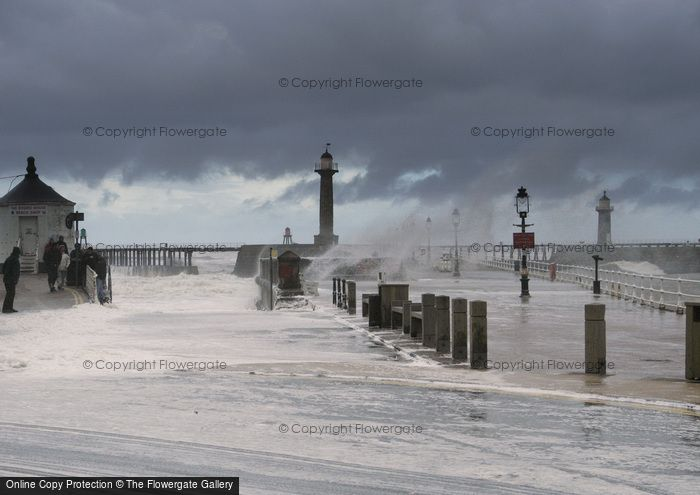 Photo of Whitby, Stormy Seas c.2010
