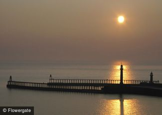 Whitby, Sunrise on the Piers c2010