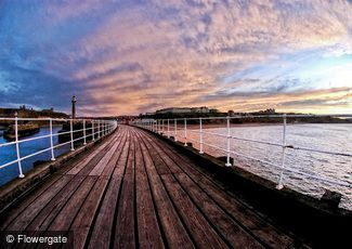 Whitby, Sunset on the Pier c2010