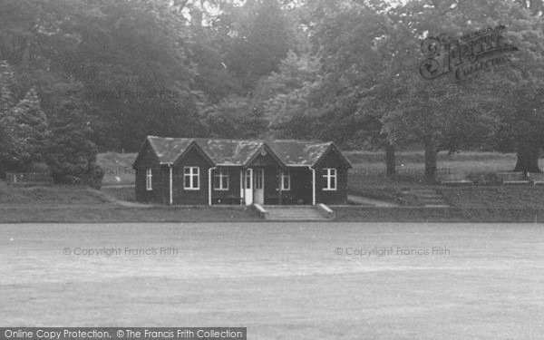 Photo of Abberley, Hall, The Cricket Pavilion c.1955