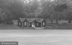 Abberley, Hall, The Cricket Pavilion c.1955