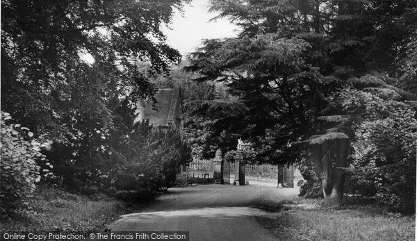 Photo of Abberley, Hall, The Lodge Gates c.1955