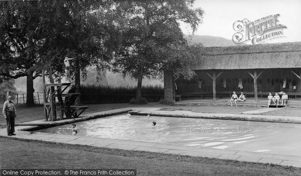 Photo of Abberley, Swimming Pool Of The Hall c.1955
