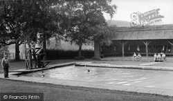 Abberley, Swimming Pool Of The Hall c.1955