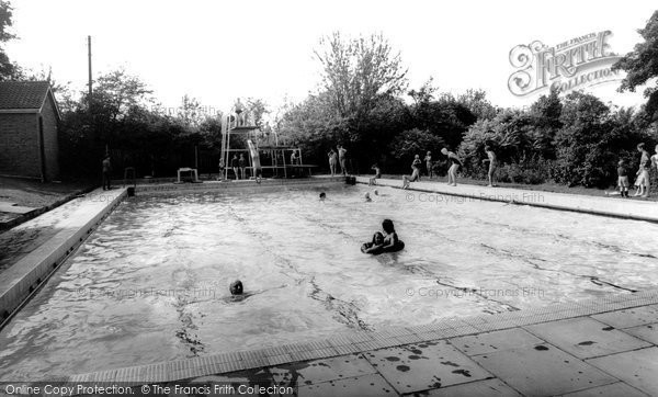 Photo of Abbots Bromley, College Swimming Pool c1960