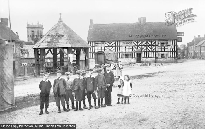 Photo of Abbots Bromley, Market Place, Butter Cross And Goat's Head Inn c.1890