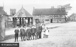 Abbots Bromley, Market Place, Butter Cross And Goat's Head Inn c.1890