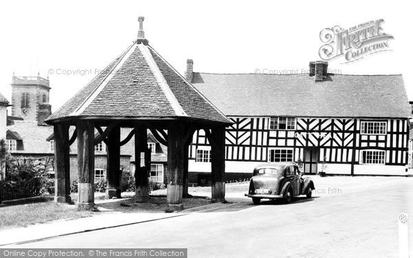 Abbots Bromley, The Goat's Head, And Market Cross c.1955
