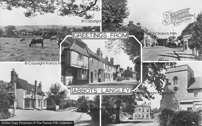 Photo of Abbots Langley, Composite c.1955