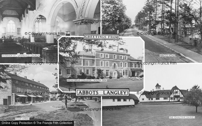 Photo of Abbots Langley, Composite c.1960