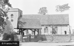 Abbots Langley, St Lawrence Church And Lychgate c.1955