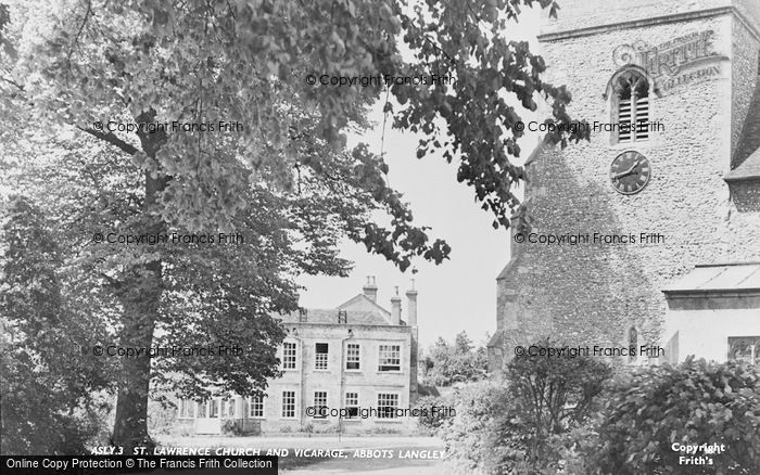 Photo of Abbots Langley, St Lawrence Church And Vicarage c.1955