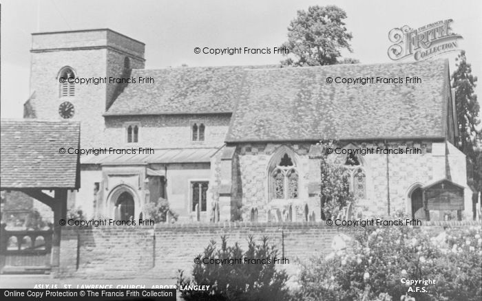 Photo of Abbots Langley, St Lawrence Church c.1955