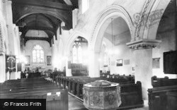 Abbots Langley, St Lawrence Church, Interior c.1960