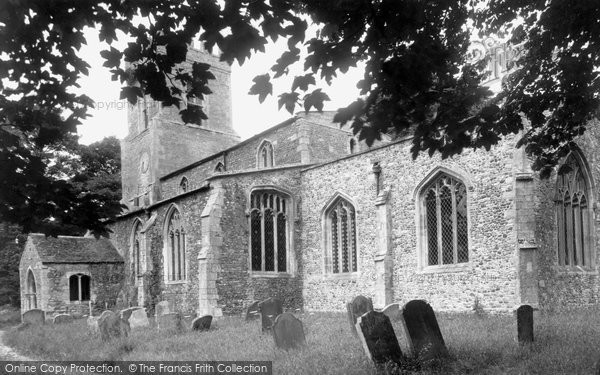 Photo of Abbots Ripton, St Andrew's Church c.1955