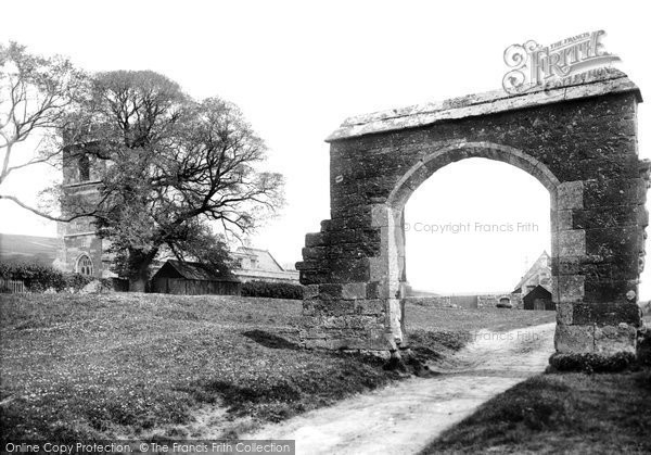 Photo of Abbotsbury, The Church And Archway To Abbey House 1890